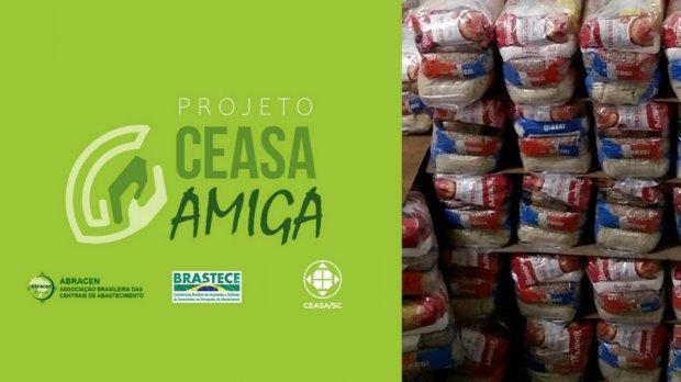Ceasa/SC participa de campanha para doação de cestas básicas a famílias em situação de vulnerabilidade