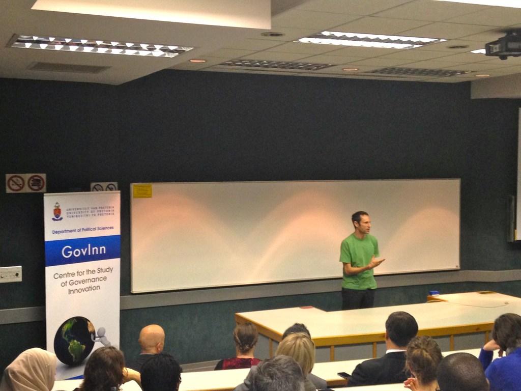 Ward Anseeuw presenting Charles Eisenstein