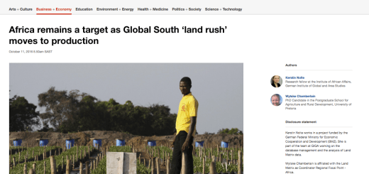 Africa remains a target as Global South 'land rush' moves to production