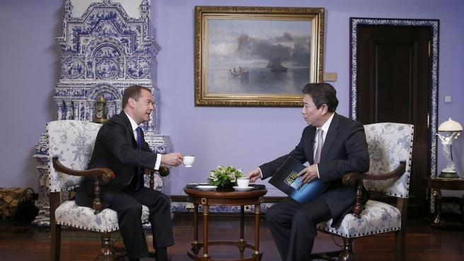 Dmitry Medvedev's interview with China Central Television