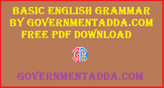 Basic English Grammar By GovernmentAdda com Download Free