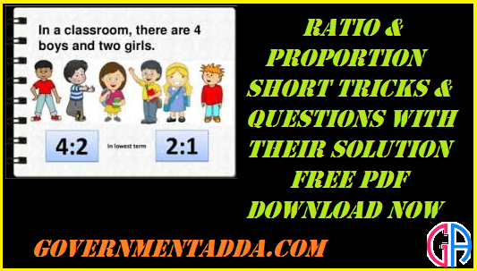 200+ Ratio & Proportion Questions With Solution Free PDF
