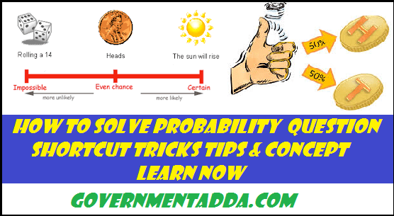 Probability Shortcut Tricks Tips & Concept : How to Solve