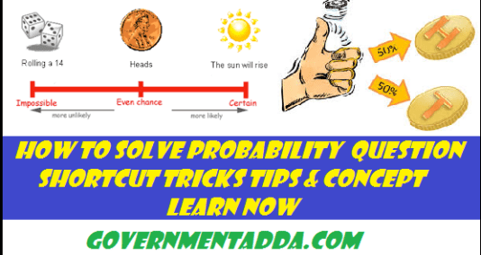 Probability solved problems | | GovernmentAdda