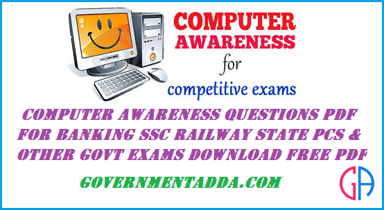 1000+ Computer Awareness Questions pdf for banking ssc railway state