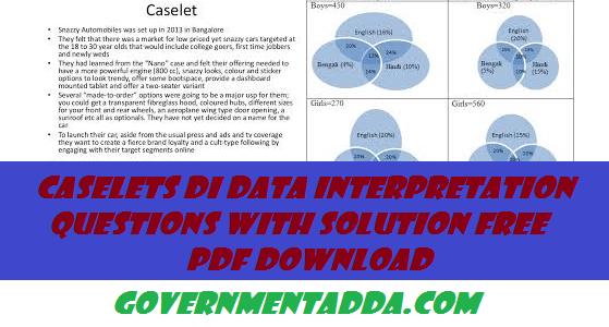 150+ Caselets DI Data Interpretation Questions With Solution Free