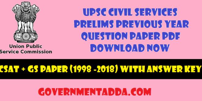 50+ UPSC Civil Services Prelims Previous Year Question Paper