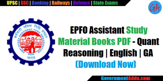 EPFO Assistant Study Material Books PDF – Quant   Reasoning