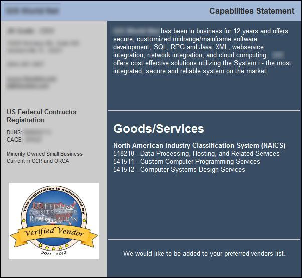 How To Draft A Capability Statement Government Contracting Tips