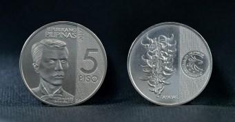 New 5 Peso Coin in Honor of Andres Bonifacio Bangko Sentral ng Pilipinas