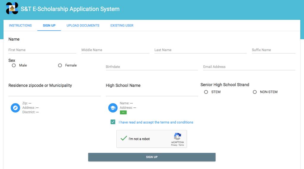 Online Application for DOST 2019