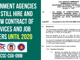 Amendment to the CSC-COA-DBM Joint Circular