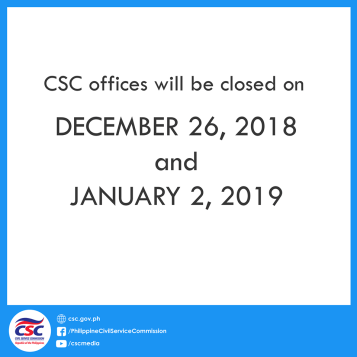CSC Government Work Suspension