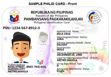 Sample National ID front
