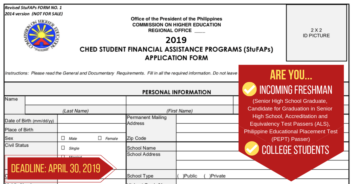 You can now apply to CHED Scholarship for SY 2019-2020