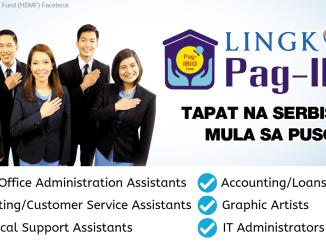 Pag-IBIG Hiring 2019 Job Order Positions