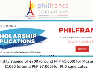 PhilFrance Scholarship 2019 Application