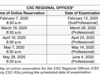 2020 COMEX Schedule