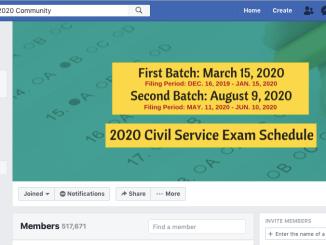 Civil Service Exam 2020 First Batch