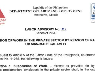 Work Suspension in Private Sector Due to Calamity