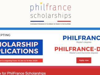 PhilFrance Scholarship 2020 Deadline