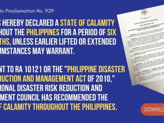 State of Calamity Throughout the Philippines