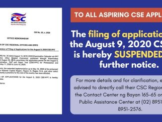 August 2020 CSE Filing Suspension