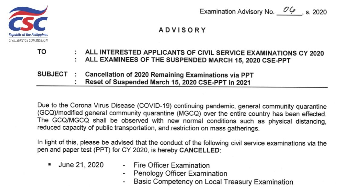 No More Civil Service Exams This Year Csc Updates
