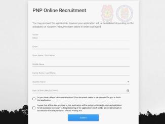 Online Portal of PNP Application