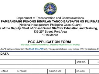 PCG USCGA Application