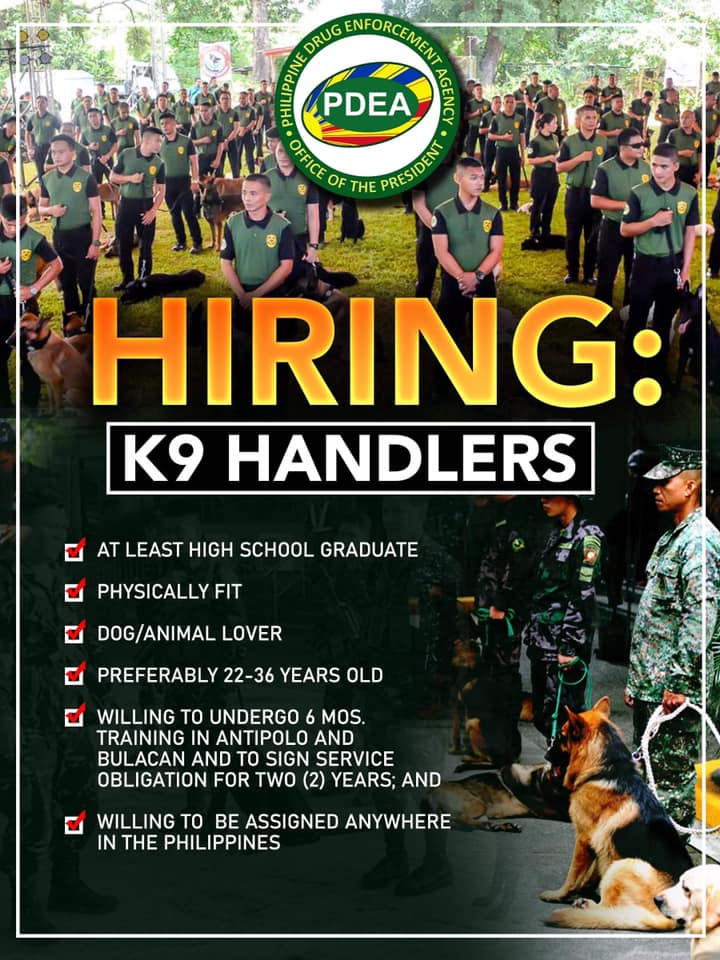K9 Handlers PDEA