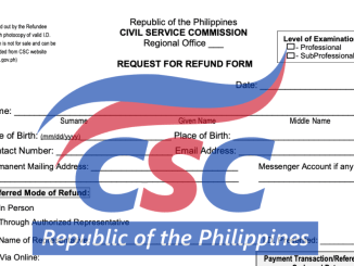 CSC Request for Refund Form RRF