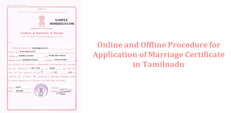 Online and offline procedure for application of marriage certificate online and offline procedure for application of marriage certificate in tamilnadu govinfo thecheapjerseys Gallery