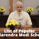 List of popular Narendra Modi schemes