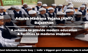 Adarsh Madrasa Yojana (AMY) Rajasthan a scheme to provide modern education & facilities to madarsa students