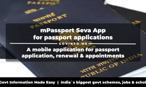 mPassport Seva App a mobile application for passport application, renewal, appointments, fees payments