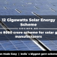 12 Gigawatts Solar Energy Scheme a Rs 8000 crore scheme for solar gear manufacturers