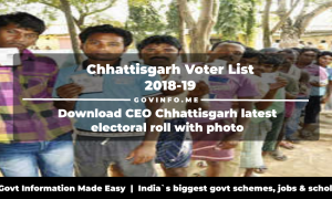 Chhattisgarh Voter List 2018-19 Download CEO Chhattisgarh latest electoral roll with photo (Polling station wise constituency wise pooling station booth wise voter list PDF)