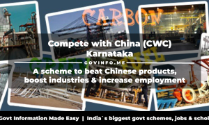 Compete with China (CWC) Karnataka a scheme to beat Chinese products, boost industries & increase employment
