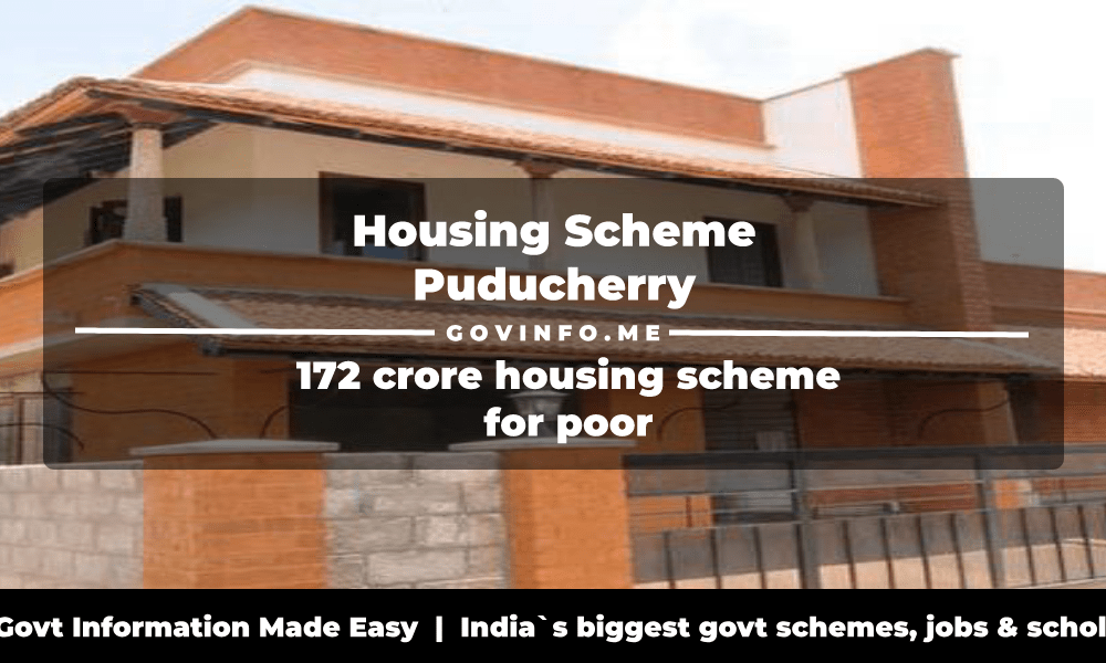 Housing Scheme Puducherry 172 crore housing scheme for poor