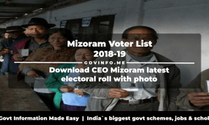 Mizoram Voter List 2018-19 Download CEO Mizoram latest electoral roll with photo (Polling station wise constituency wise pooling station booth wise voter list PDF)