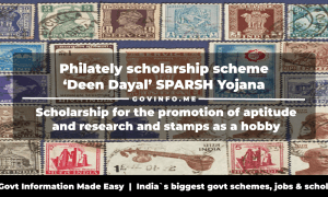 Philately scholarship scheme 'Deen Dayal' SPARSH Yojana scholarship for the promotion of aptitude and research and stamps as a hobby Competition quiz, registration, dates & prices