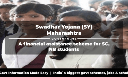 Swadhar Yojana (SY) Maharashtra a financial assistance scheme for SC, NB students Eligibility, benefits & how to apply