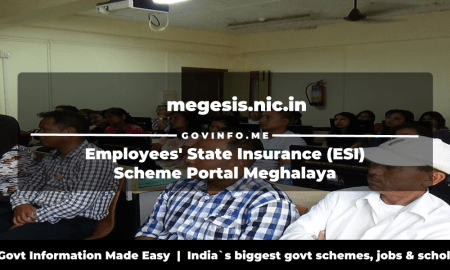 megesis.nic.in Employees' State Insurance (ESI) Scheme Portal Meghalaya
