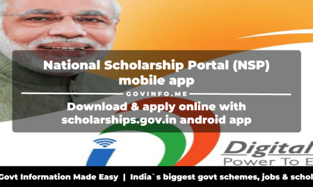 National Scholarship Portal (NSP) mobile app