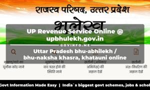 UP Revenue Service Online at upbhulekh.gov.in