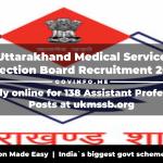 Uttarakhand Medical Service Selection Board
