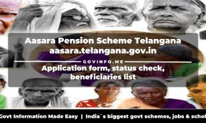 aasara.telangana.gov.in - Aasara Pension Scheme Telangana