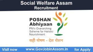 Poshan Abhiyaan Assam Recruitment