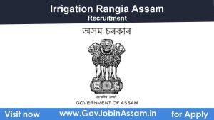 Irrigation Rangia Recruitment 2021